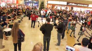 Bagpipe Holiday Flash Mob 2013