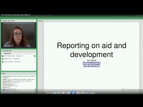 Reporting on aid and development