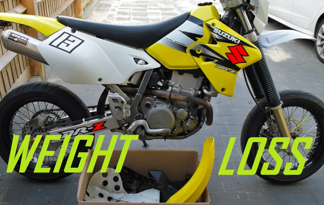 SUPERMOTO / MOTORCYCLE WEIGHT LOSS EXPERIMENT (DRZ400) - YouTube