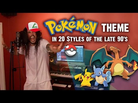 Pokémon Theme In 20 Styles Of The Late 90s | Ten Second Songs 20 Style Cover