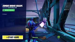 Fortnite SURVIVE THE ZOMBIE horde or DIE!! (Fortnite creative)