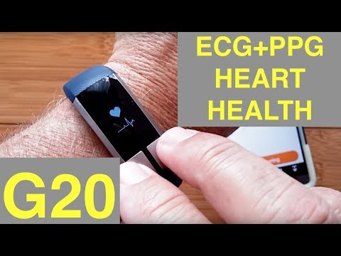 KCASA G20 ECG+PPG Blood Pressure Fitness/Health Smartband: Unboxing & Review