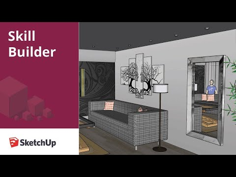 Creating a mirror effect in SketchUp - Skill Builder
