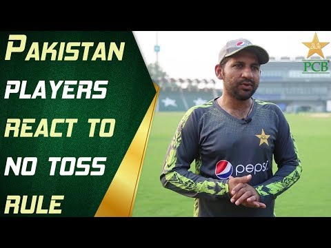 Pakistan players react to 'no toss' rule | PCB - YouTube