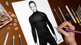 Drawing James Bond (Daniel Craig)