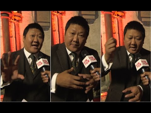 BENEDICT WONG loses it at DR STRANGE red carpet and spends interview describing how he makes ROAST CHICKEN!