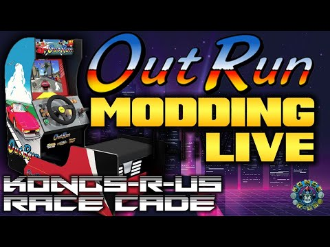 Let's Finish Up Modding the OutRun Arcade1up - Cab Installation, Monitor, Power, PC, & Playlist from Kongs-R-Us