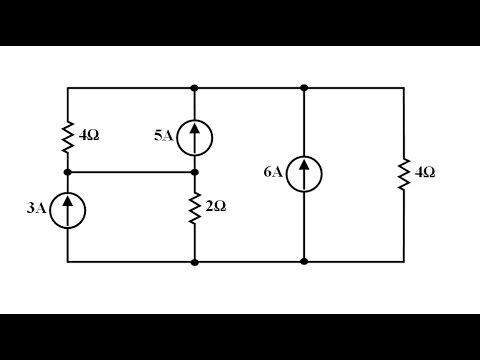 Devre Teorisi Ders 17 Düğüm Analiz Yöntemi Örnek 2 (Matlab ve Hesap Makinesi Çözümünü de İçerir)