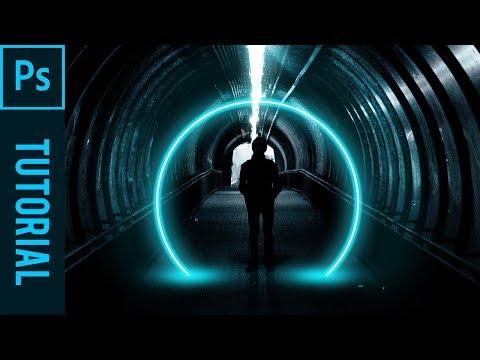 Make A Circle Light Effect - Tutorial Photoshop CC 2019