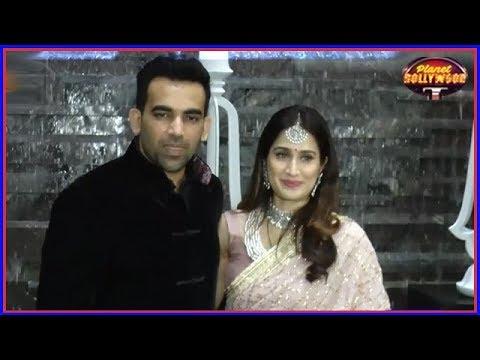 Zaheer Khan & Sagarika Ghatge Host Post Wedding Cocktail Party | Bollywood News