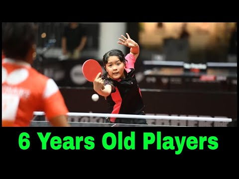 Six-Year-Old Filipino table tennis players