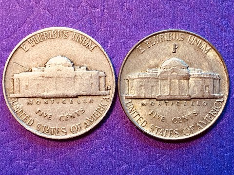 US 5 Cents Coins 1942 D and 1945 P Silver