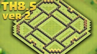 Town Hall 8.5 (TH8.5 Version 2) Farming/Hybrid Base: Queen, AD, Storages, Teslas, Traps, Walls 2016
