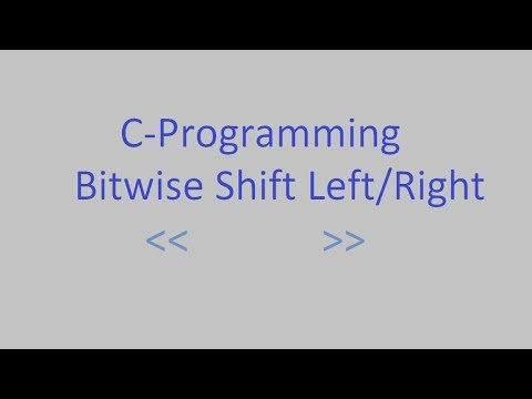 Left Right Shift Operator In C Programming