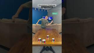 Cup Knockdown Challenge!!