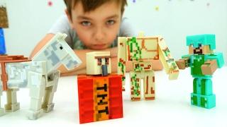 Лего #Майнкрафт и тайна секретной комнаты! Майнкрафт мультики для мальчиков
