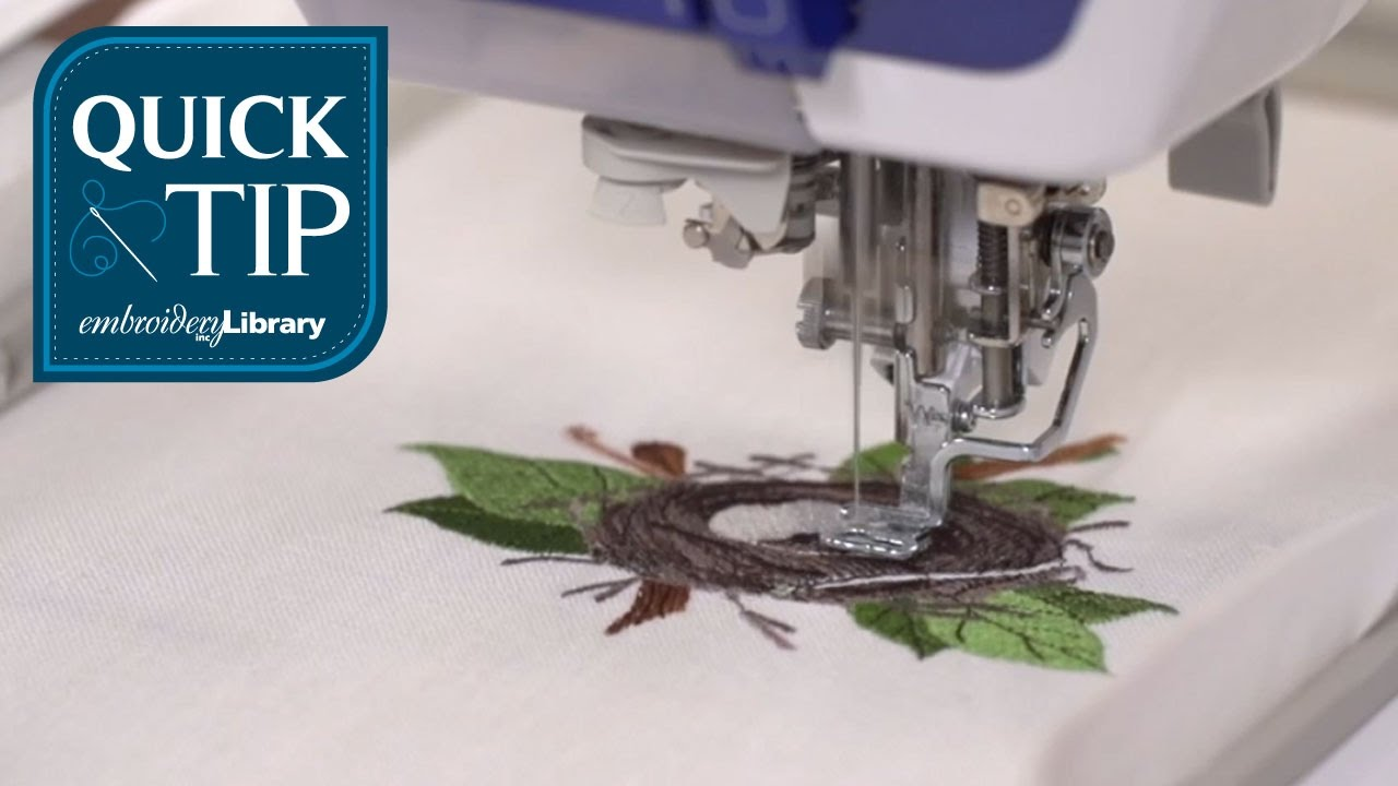 Quick Tip Embroidering Complex Designs Youtube