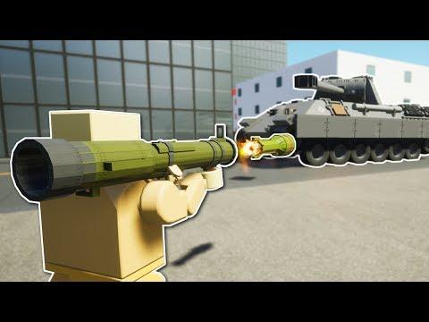 TANK BATTLE WITH ROCKET LAUNCHER! - Brick Rigs Multiplayer Gameplay & Update