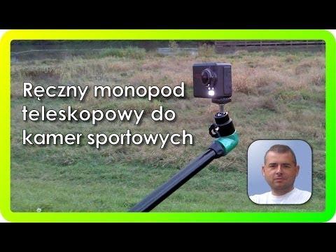Selfie stick monopod, teleskopowy uchwyt do kamer sportowych GoPro Hero i Point-of-view