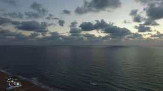 Аэросъемка нагария израиль пляж  городской пляж нагария