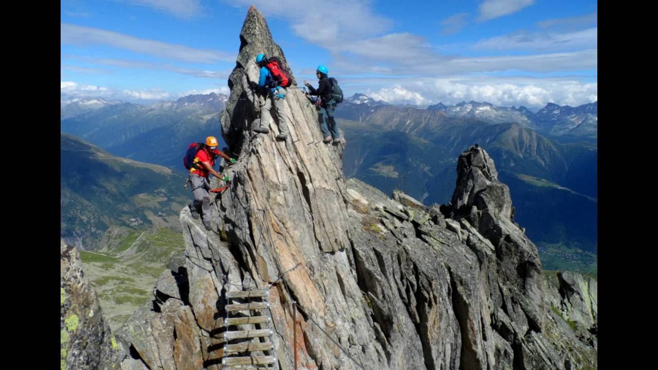 Klettersteig Eggishorn : Ferrata eggishorn alpes suizos julio youtube