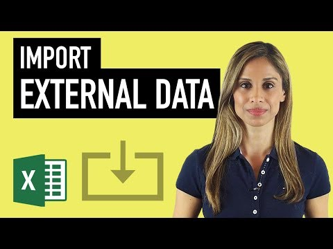 Excel: How to Best Import External Data into Excel & Import data from the Web to Excel