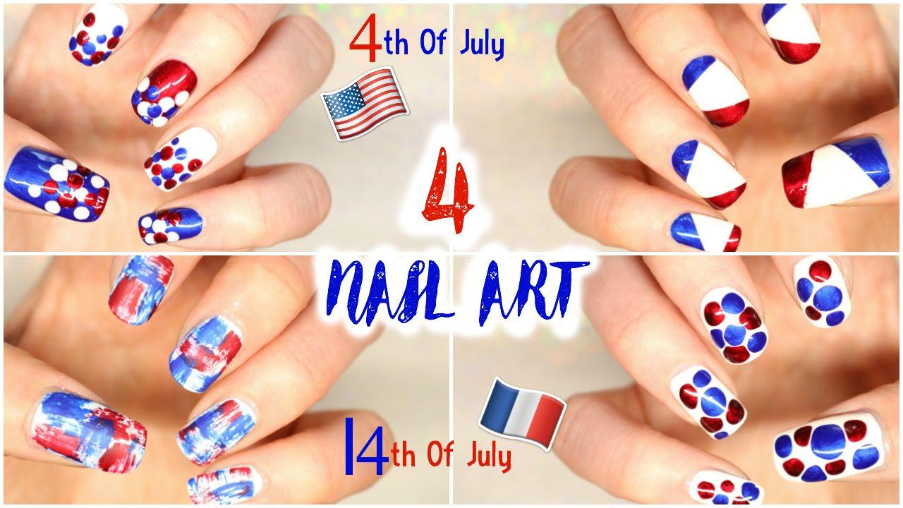 Nail art 14 juillet