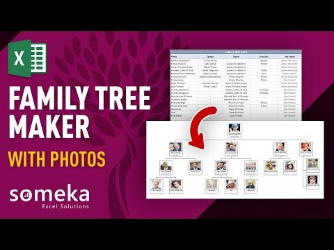 Family Tree Maker With Photos - Automatic Excel Template