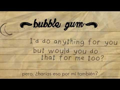clairo - bubble gum   Lyrics (Letra Inglés - Español)