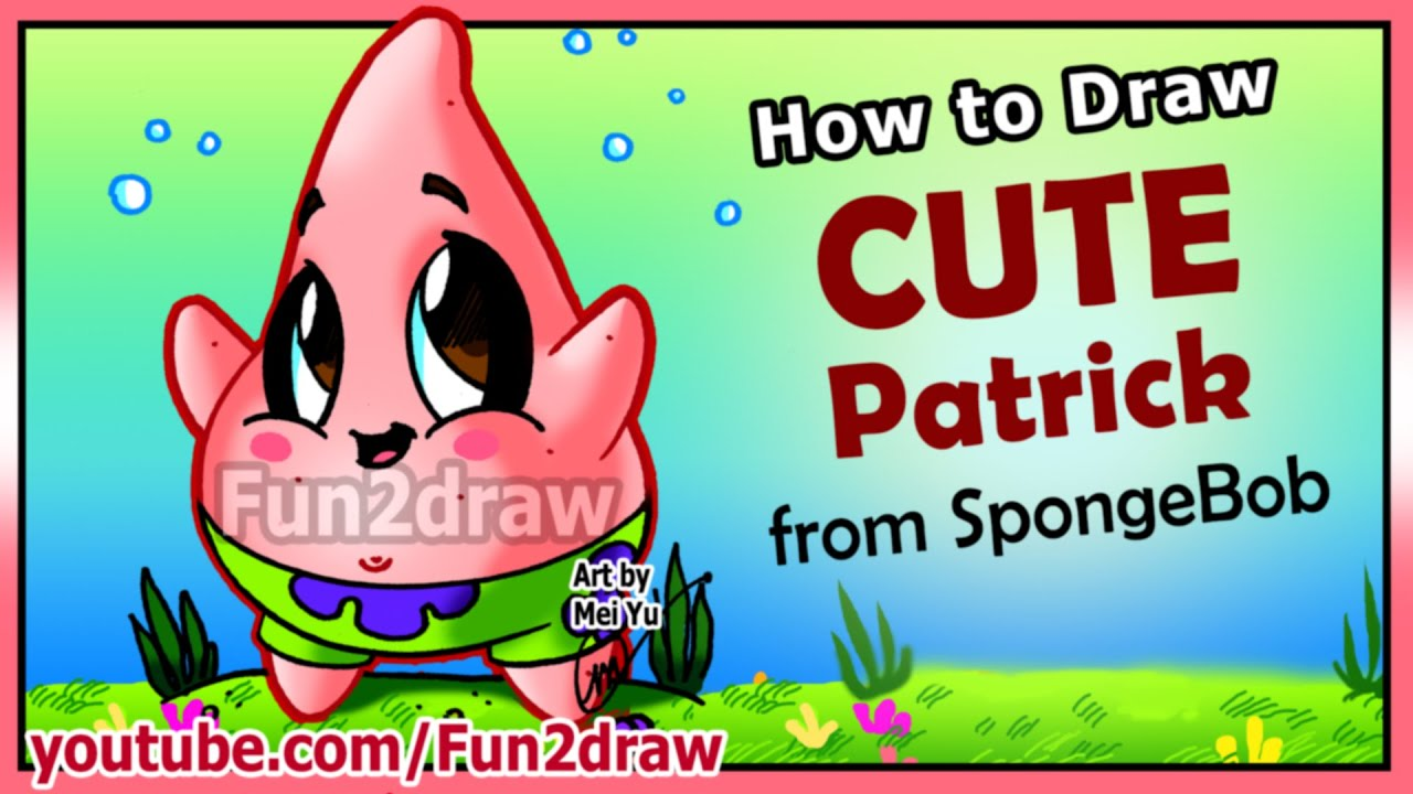 How To Draw Step By Step Cute Patrick Star Funny Extra