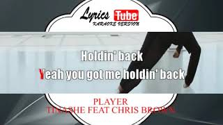 Karaoke Music TINASHE FEAT CHRIS BROWN - PLAYER | Official Karaoke Musik Video