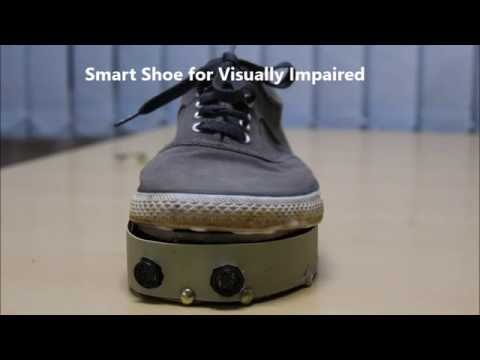 Smart shoe internet of things google maps NMIT bangalore