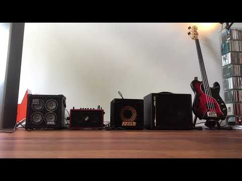 Roland Micro Cube Bass RX vs. Phil Jones Double Four BG-75 vs. Markbass Minimark 801 vs. AER amp one