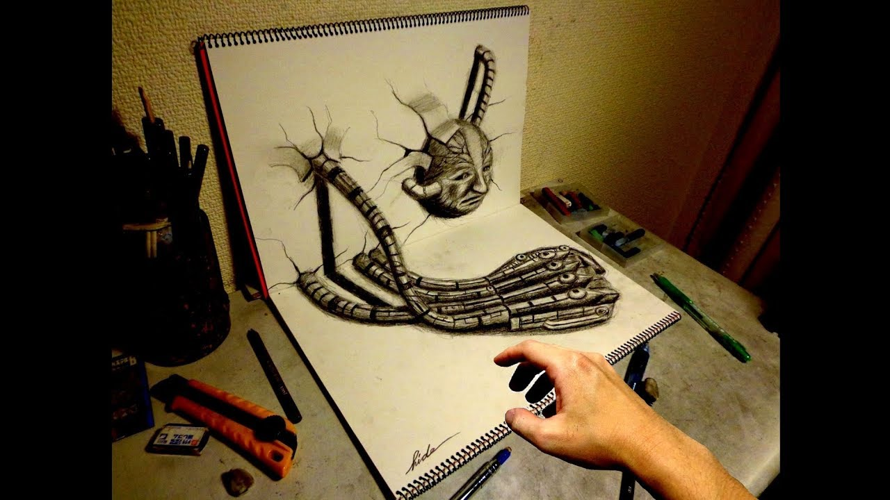 Amazing 3d art on sketchbook 16 youtube 3d design free