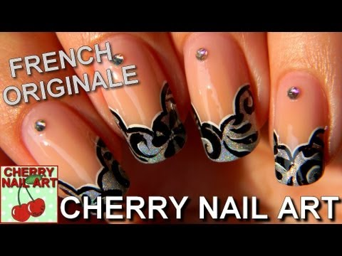 nail art tuto french originale motifs peinture acrylique. Black Bedroom Furniture Sets. Home Design Ideas