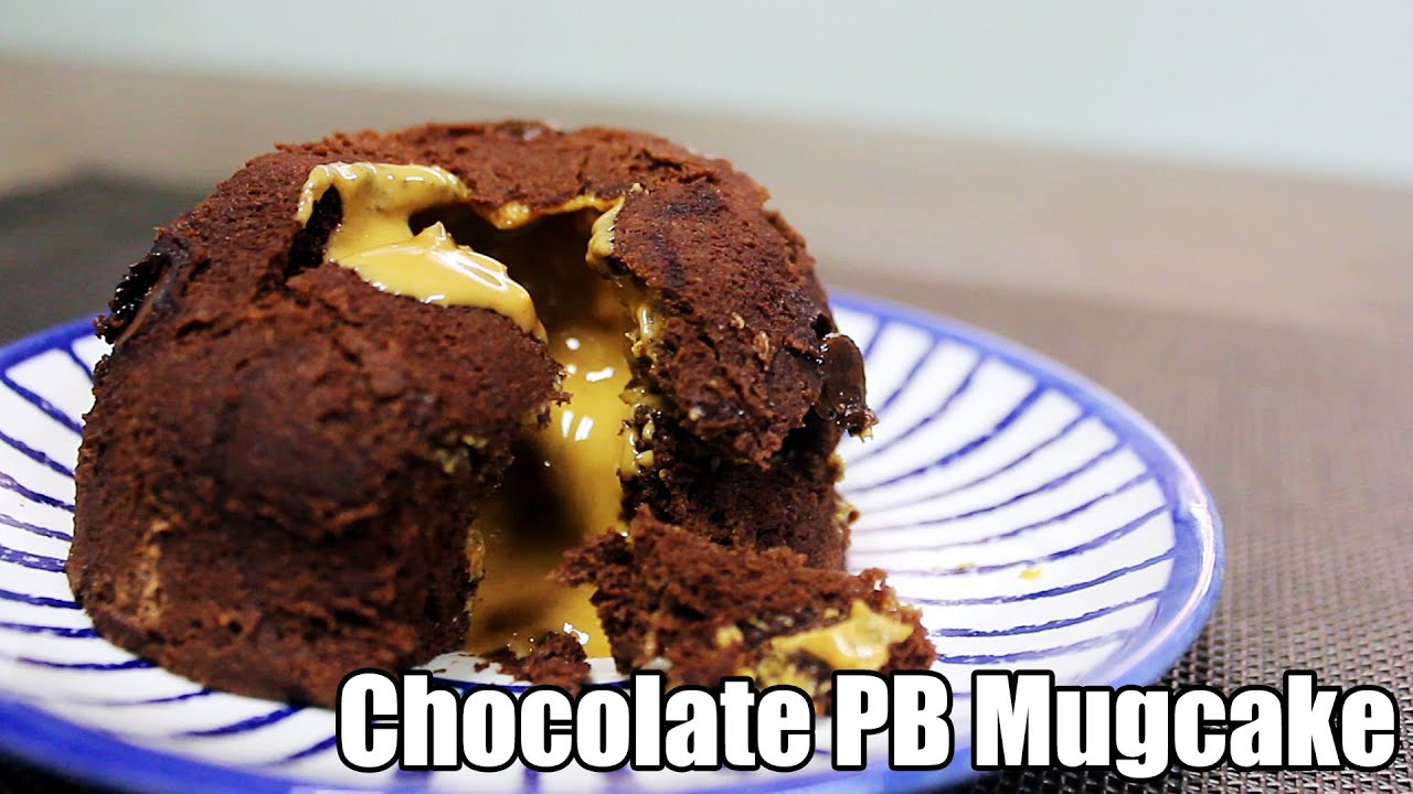 Minute Chocolate Peanut Butter Mug Cake