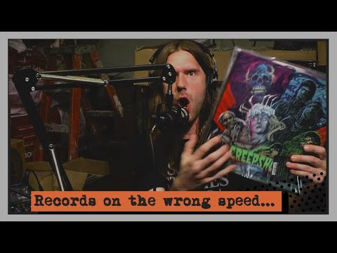 Horror Soundtrack vinyl Records on the Wrong Speed