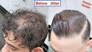 WIN KERATIN PRODUCT★ CURLY TO STRAIGHT HAIR KERATIN TREATMENT★HAIR STRAIGHTENING|MEN HAIRSTYLES✔️