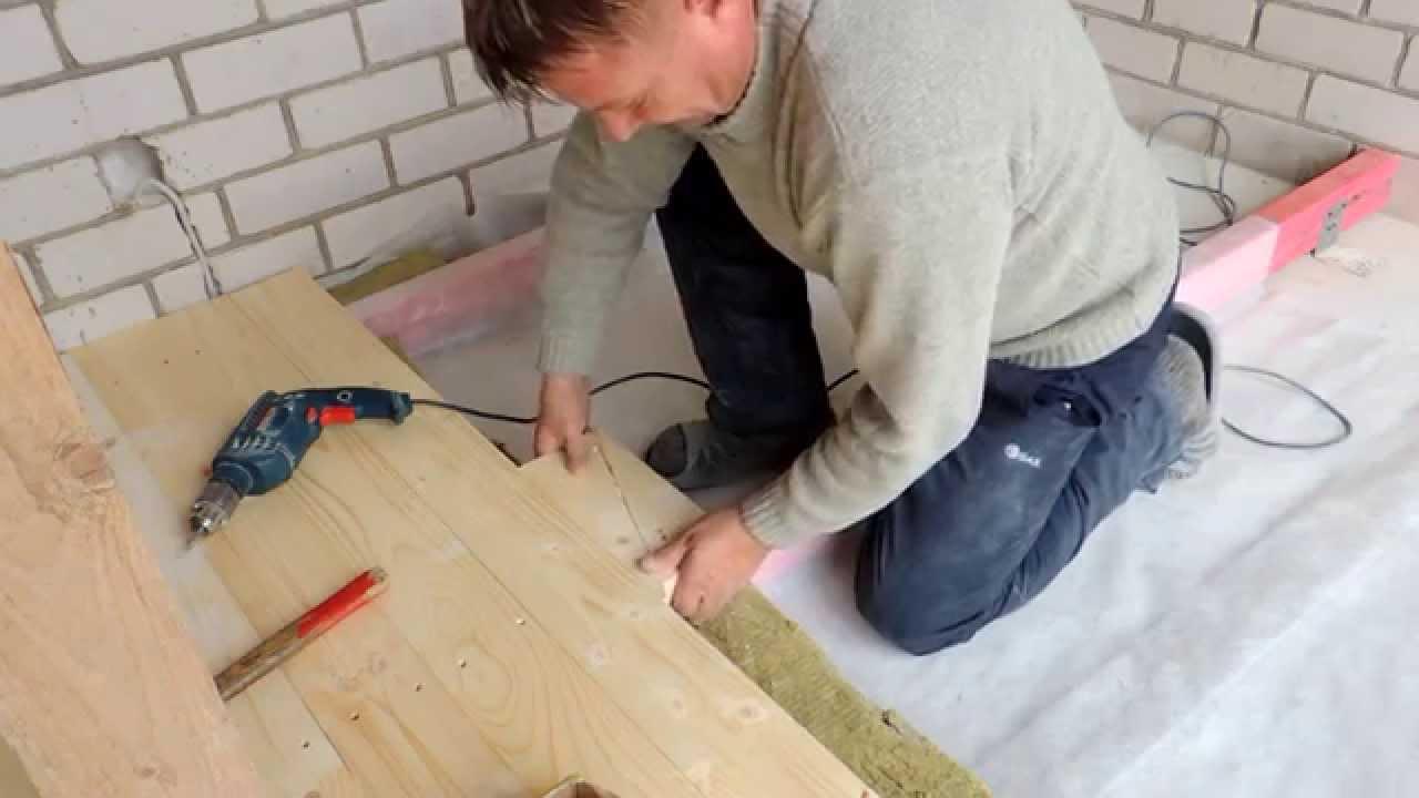 монтаж деревянного пола по лагам