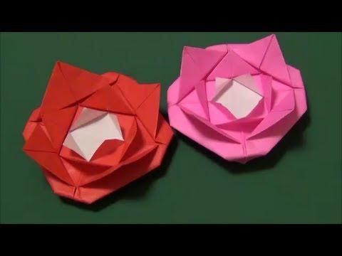 ハート 折り紙 折り紙 簡単 バラ : youtube.com