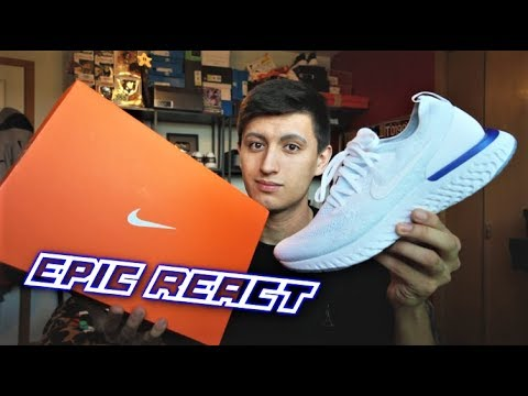 436d92683ff78 UNBOXING the NIKE EPIC REACT Flyknit! Honest REACTion - YouTube