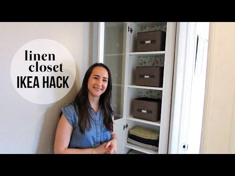Diy Linen Closet Ikea Hack Youtube