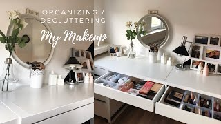 Organizing & Decluttering My Makeup Collection