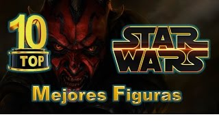 Star Wars Top 10 MEJORES Figuras Coleccion Episodio I AMENAZA FANTASMA Star Wars Review Español