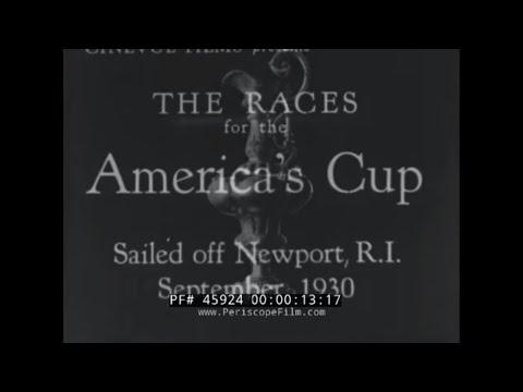 AMERICA'S CUP RACE 1930  THOMAS LIPTON  NEWPORT, RHODE ISLAND  45924