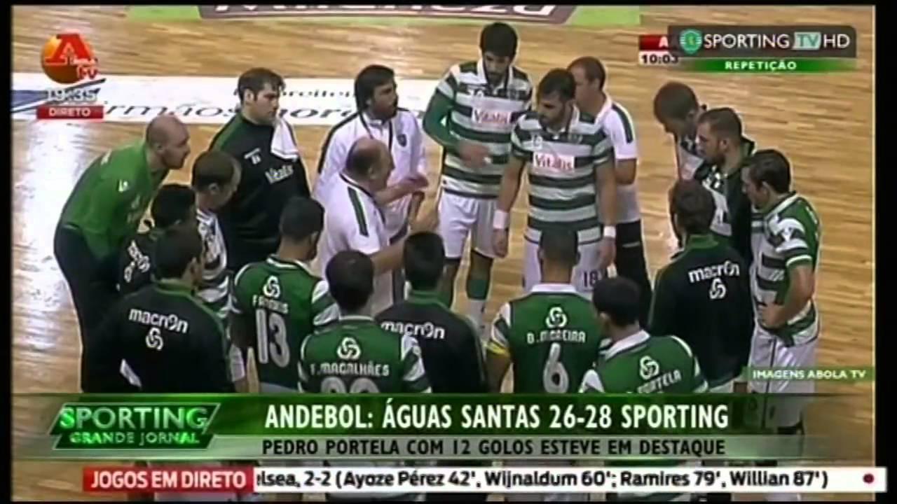 Andebol :: 05J :: Aguas Santas - 26 x Sporting - 28 de 2015/2016
