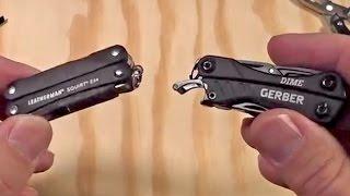 Gerber Dime vs Leatherman Squirt PS4: V-Log Thursday