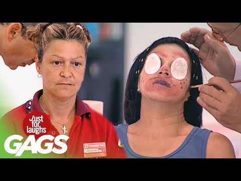 Free Horrible Makeup Prank! - Just For Laughs Gags
