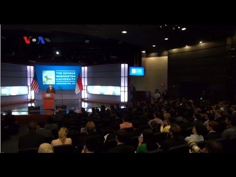 Presiden SBY Di George Washington University - Liputan Berita VOA 27 September 2014