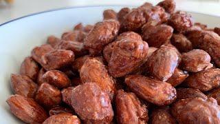 Sugar roasted almonds/hạnh nhân bọc đường_cách làm hạnh nhân thơm nức,giòn tan hấp dẫn_Bếp Hoa